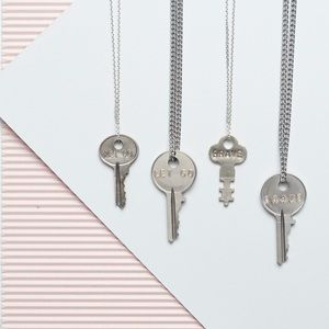 "NEW Giving Key Necklace ""Brave"""